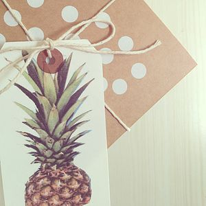 Pineapple Gift Tag Pack - wedding favours