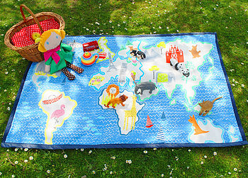 Child's Map Picnic Play Or Picnic Mat