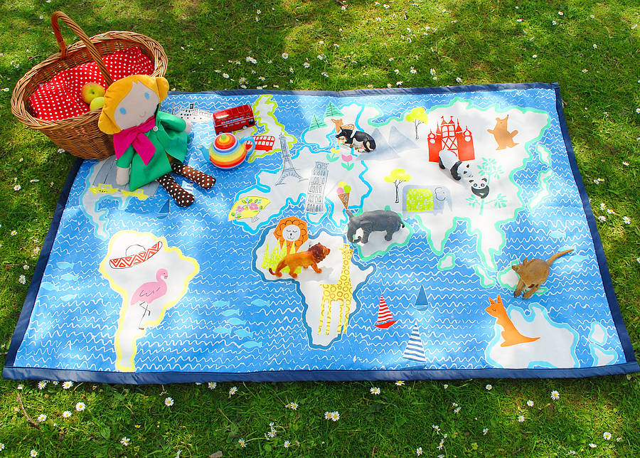 child's map picnic play or picnic mat by wild things funky ...