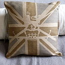 Muted Union Jack Cushion With Military Ensign