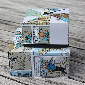 Ten Handmade Comic Favour Boxes - wedding favours