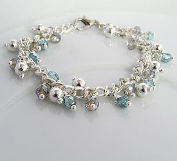 Silver Aquamarine Bracelet