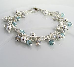 Silver Aquamarine Bracelet - jewellery sets