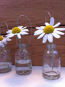 Set Of Six Tiny Hanging Glass Bottles - outdoor decorations