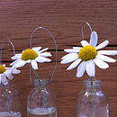 Set Of Six Tiny Hanging Glass Bottles