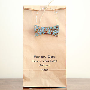'Best Dad Ever' Personalised Gift Bag