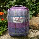 Harris Tweed Doorstop - lilac check