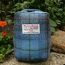 Harris Tweed Doorstop - royal blue check