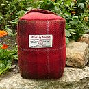 Harris Tweed Doorstop - red check