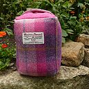 Harris Tweed Doorstop - pink check