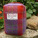 Harris Tweed Doorstop - red/purple check