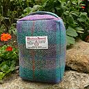 Harris Tweed Doorstop - purple/green check