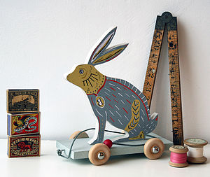 Bella The Bunny On Wheels Pull Along - decorative accessories