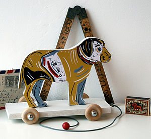 Arthur The Dog On Wheels Pull Along - decorative accessories