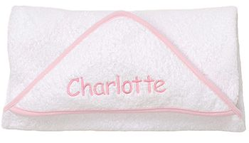 Personalised Baby Hooded Towel Pink