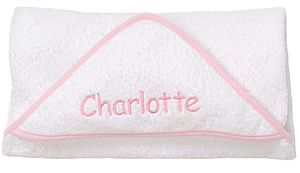 Personalised Pink Hooded Towel - bathtime