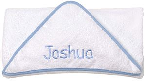 Personalised Hooded Towel For Baby Blue