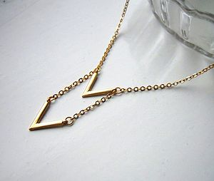 Chevron Necklace - geometric shapes