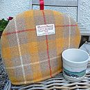 Harris Tweed Tea Cosy - yellow check