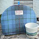 Harris Tweed Tea Cosy - royal blue check