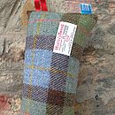 Harris Tweed Draught Excluder - brown check