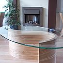 River coffee table in olive ash with two Tara side tables
