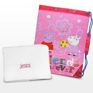 Peppa Pig Swimming Bag With Swimming Towel - toys & games