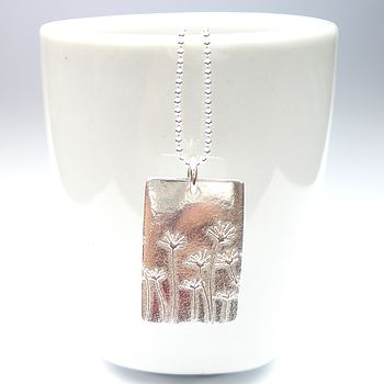 Summer Meadow Rectangle Necklace