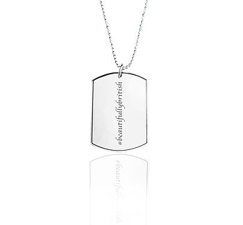 Personalised Hastag Military Dog Tag Necklace