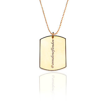 Personalised Luxury Social Tag Necklace