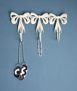 Bows Cream Jewellery Hanger