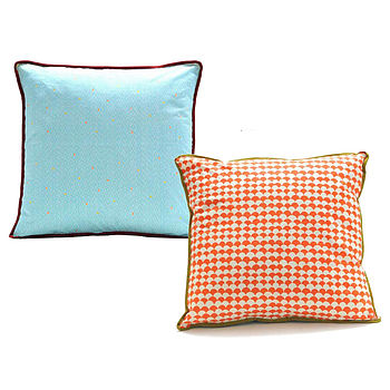 Vintage Style Printed Cushion Cover