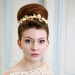 Petworth Pearl Acorn Wedding Tiara - wedding jewellery