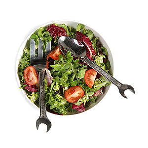 Spanner Cutlery Salad Servers - kitchen