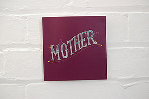 'Mother' Vintage Greetings Card
