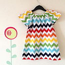 Rainbow Chevron Girls Dress