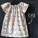 Girls 'China Cups' Flutter Dress