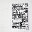 Geordie Dialect Modern Tea Towel