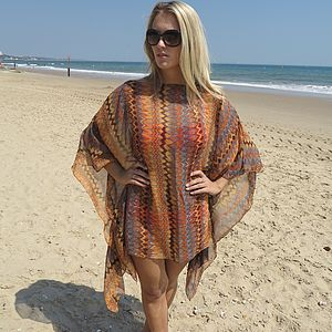 Tribal Print Cover Up - tops & t-shirts