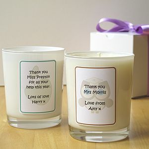 Personalised Teacher's Thank You Candle - kitchen