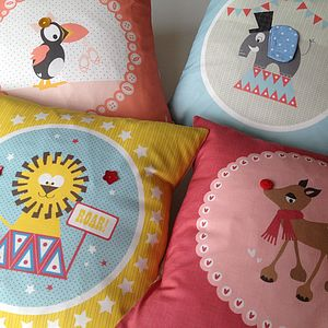 Children's Animal Character Cushion - patterned cushions