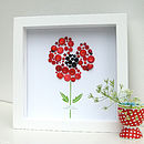 Personalised Baby Girl Button Poppy Artwork