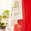 Beach Hut Tea Towel