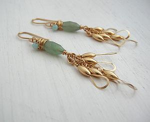 Aventurine Little Wing Earrings - earrings