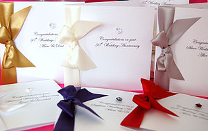 Bedazzled Personalised Engagement Card - wedding, engagement & anniversary cards