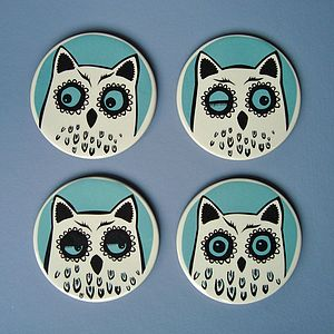 Ceramic Owl Coasters