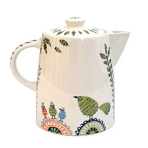 Birdlife Teapot - crockery & chinaware