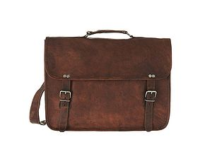 Leather Laptop Bag With Handle - laptop bags & cases