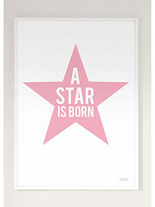 A Star Is Born Print   Many Colour Options - baby's room