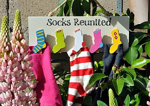 Socks Reunited Peg Board - furnishings & fittings